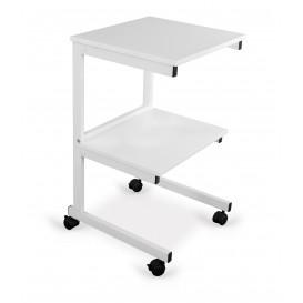 Alumínium asztal: 2 polc