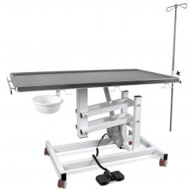 Állatorvosi Asztal J-VET 1 MAX E K (nagyobb tálca, elektromos állításnál, kerekek)