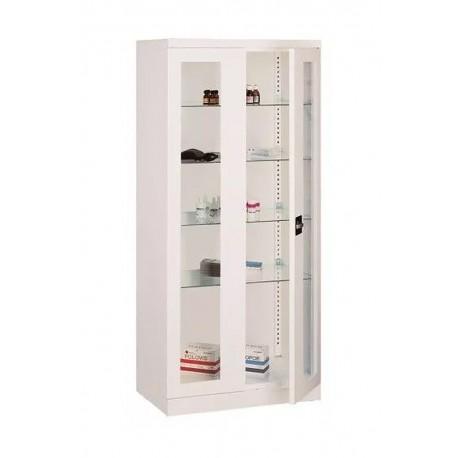 Műszer és gyógyszer szekrény fém 2 ajtós SML 112